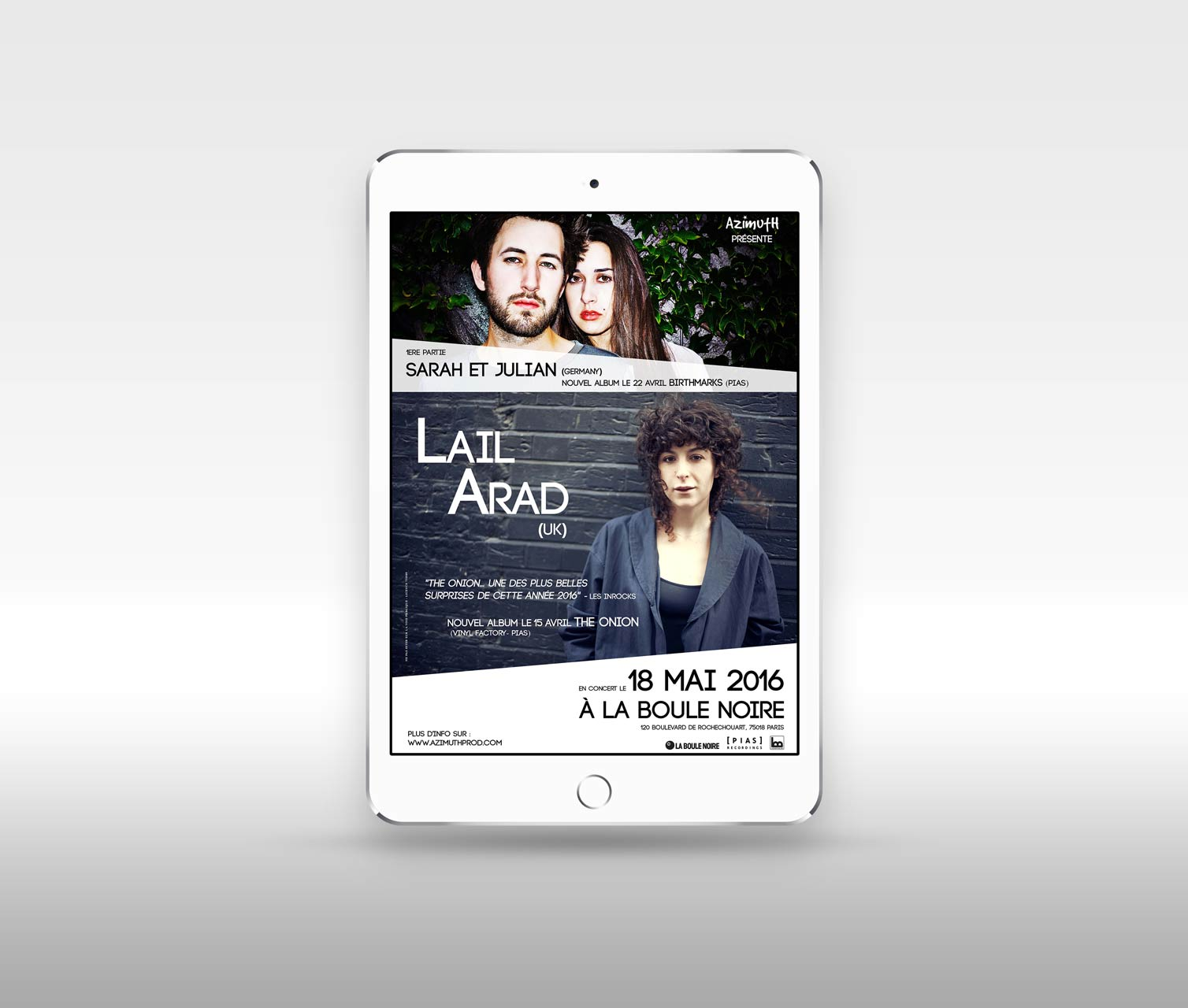 E-card promotionnel Lail Arad